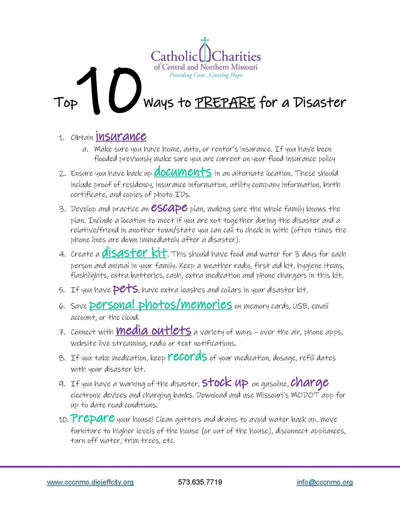 First10things To Do AFTER A Disaster Page 2