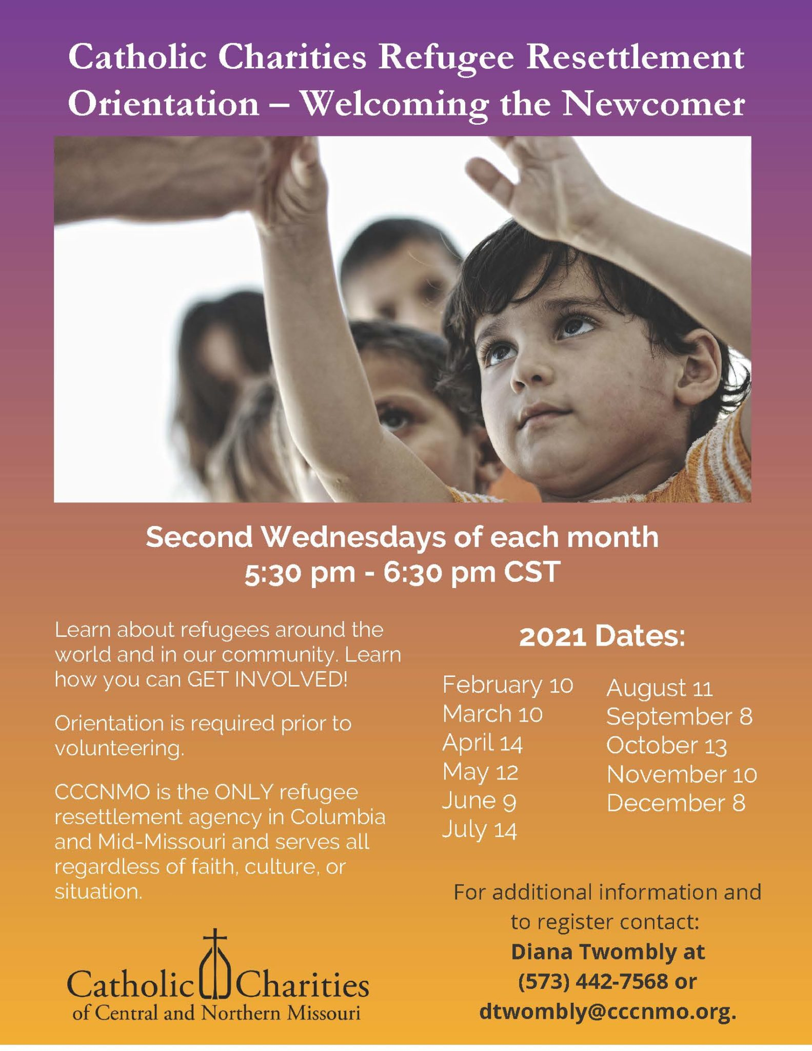 Final Catholic Charities Refugee Resettlement Orientation Dates 2nd Wed Of Each Month (002)