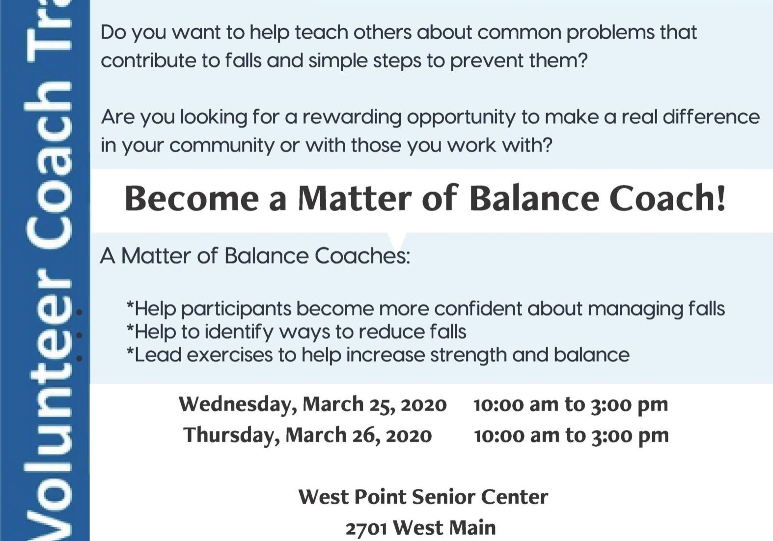 Matter Of Balance Final Train The Trainer By Aging Best